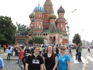 Doing the tourist thing at Red Square.