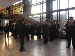 Military pep band.